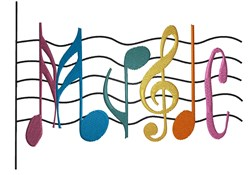 Music Notes embroidery design