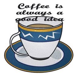 Good Idea Coffee embroidery design