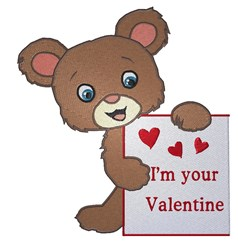 Valentine Bear embroidery design