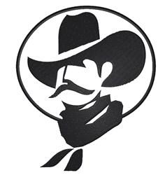 Cowboy Stencil embroidery design