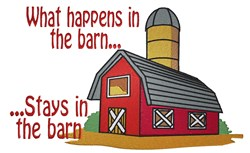 Stays In The Barn embroidery design