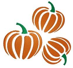 Three Pumpkins embroidery design