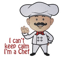Keep Calm Chef embroidery design