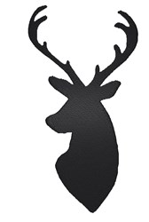 Deer Head Silhouette embroidery design