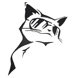 Cool Cat Stencil embroidery design