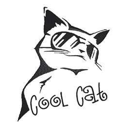 Cool Cat embroidery design