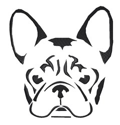 French Bulldog Stencil embroidery design