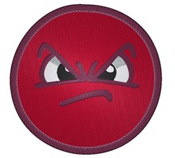 Angry Mad Emoticon embroidery design