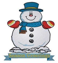 Season Greetings Snowman embroidery design