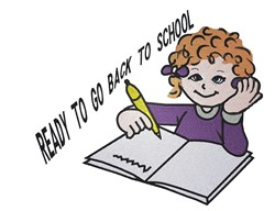 Back To School Girl embroidery design