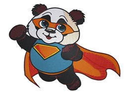Super Panda embroidery design