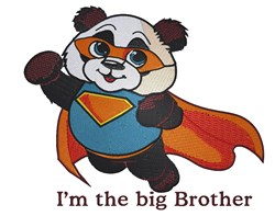 Big Brother Super Panda embroidery design