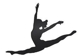 Ballet Leap embroidery design