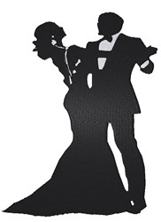 Ballroom Couple Silhouette embroidery design