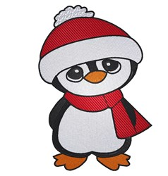 Penguin With Scarf embroidery design