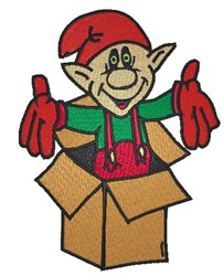 Elf In Box embroidery design