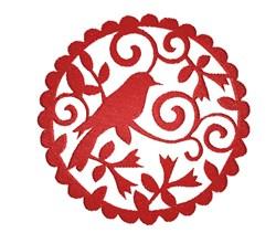 Bird In Circle embroidery design