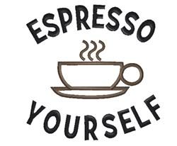 Espresso Yourself embroidery design