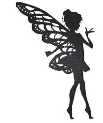 Beautiful Fairy Silhouette embroidery design
