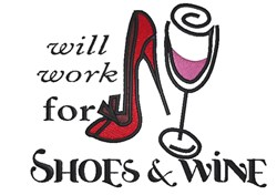 Will Work For Shoes embroidery design