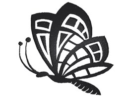 Butterfly Silhouette embroidery design