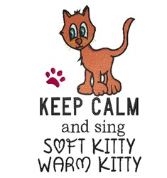 Soft Kitty Song embroidery design