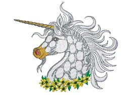 Unicorn Head embroidery design