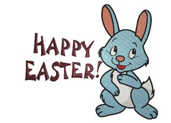 Happy Easter Bunny embroidery design
