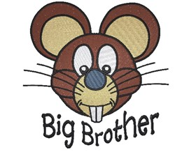 Big Brother Mouse embroidery design