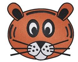 Cartoon Tiger Face embroidery design