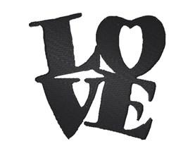 Love Silhouette embroidery design