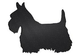 Scottie Dog Silhouette embroidery design