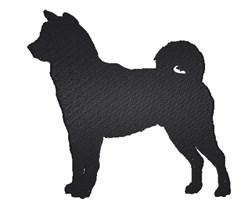Shiba Inu Silhouette embroidery design