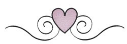 Heart Scroll Border embroidery design