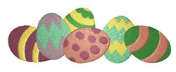 Colorful Easter eggs embroidery design