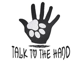 Talk To The Hand! embroidery design