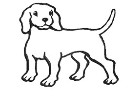 Cute Dog Outline embroidery design