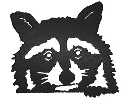 Adorable Raccoon embroidery design