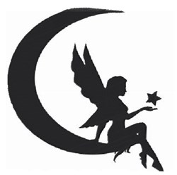 Fairy & Moon Silhouette embroidery design