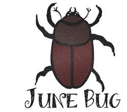 June Bug embroidery design