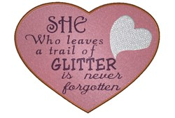 Glitter Heart embroidery design