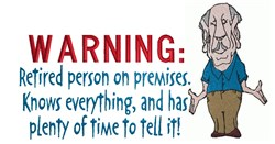 Warning: Retired Person embroidery design