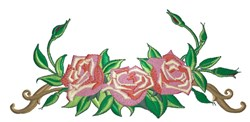 Beautiful Rose Border embroidery design