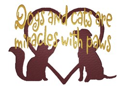 Miracles With Paws embroidery design