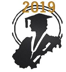 2019 Graduation Silhouette embroidery design