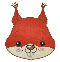 Squirrel Face embroidery design