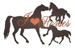 I Love Horses embroidery design