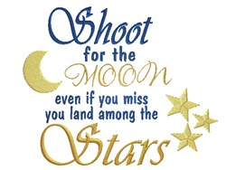 Shoot For Moon embroidery design