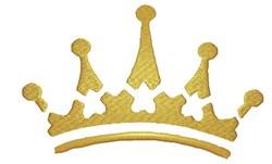 Golden Tiara embroidery design