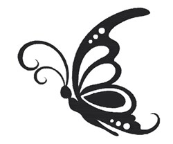 Cute Butterfly Outline embroidery design